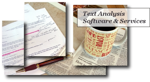 text parsing and analysis software and services